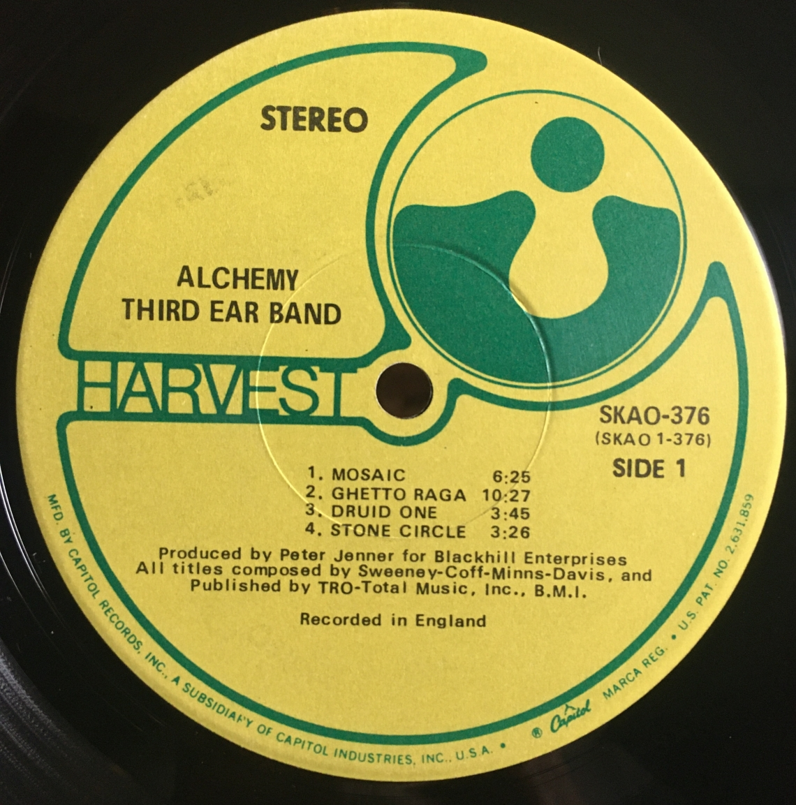 Third Ear Band Alchemy Label
